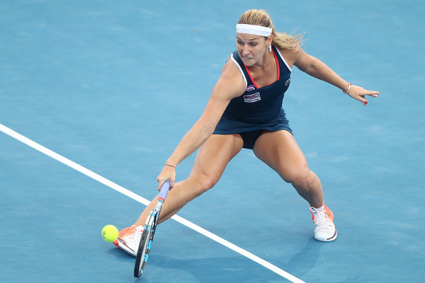 Dominika Cibulkova in action during her first tournament of the year at the Brisbane International | Photo: Chris Hyde/Getty Images AsiaPac
