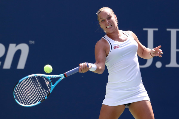 Dominika Cibulkova was unable to play aggressively today | Photo: Al Bello/Getty Images North America