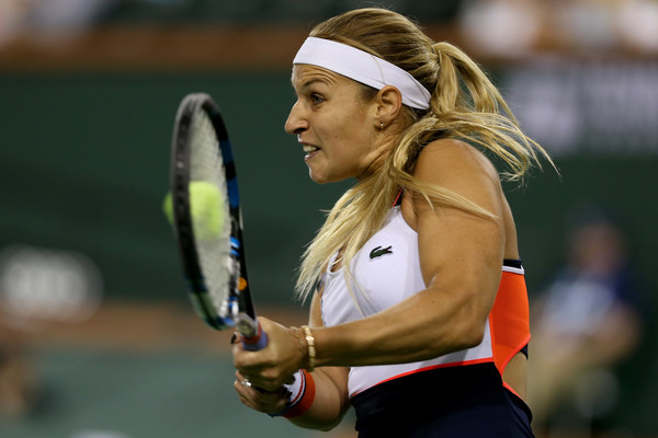 Dominika Cibulkova produced an incredible comeback to oust the Czech in three sets | Photo: Matthew Stockman/Getty Images North America