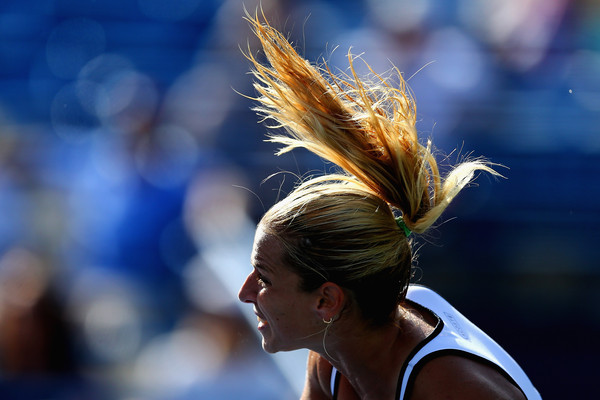 Dominika Cibulkova at the Connecticut Open. Photo: Maddie Meyer/Getty Images