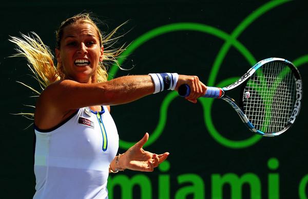 Dominika Cibulkova at the Miami Open. Photo: Mike Ehrmann/Getty Images