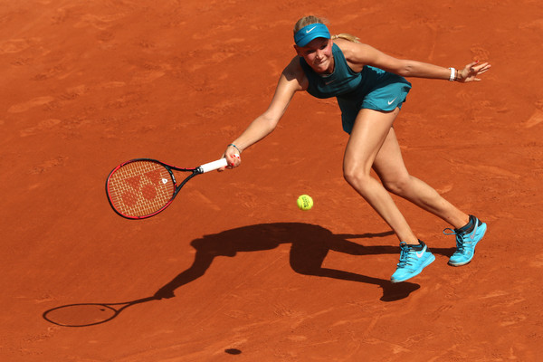 Donna Vekic put in a tough fight today although she narrowly fell short in both sets | Photo: Matthew Stockman/Getty Images Europe