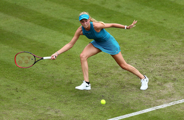 Donna Vekic in action on the grass courts in Birmingham | Photo: Jordan Mansfield/Getty Images Europe