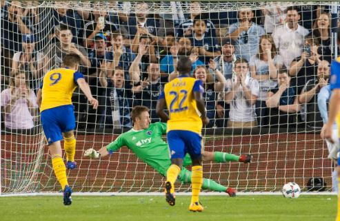 Kevin Doyle converts the Rapids penalty   Source: Nick Tre. Smith - Icon Sportswire via Getty Images