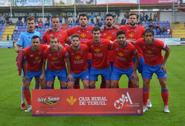 XI del CD Teruel ante el Ejea (0-0) | Foto: CD Teruel