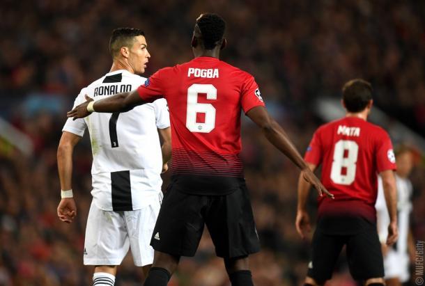 Paul Pogba marca Cristiano Ronaldo | source: twitter United