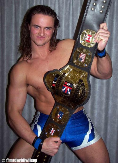 Drew Galloway in his British Championship Wrestling days (image: David Wilson)