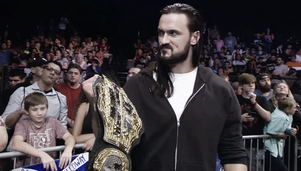 Galloway with the title. Photo- TNA Wrestling