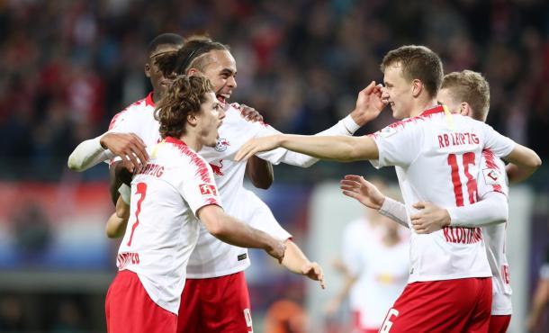 (RB Leipzig viene de vencer 3 a 0 al Leverkusen | Foto: @DieRotenBullen)