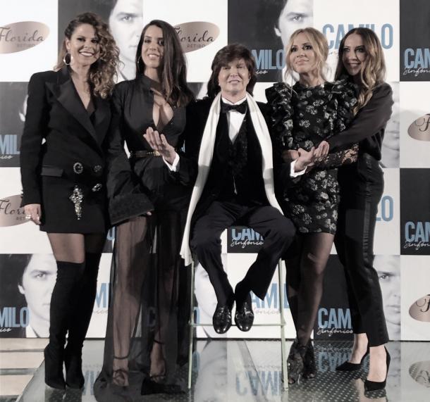 Mónica Naranjo posa junto a Ruth Lorenzo, Pastora Soler, Marta Sánchez y Camilo Sesto   Fuente: Sony Music