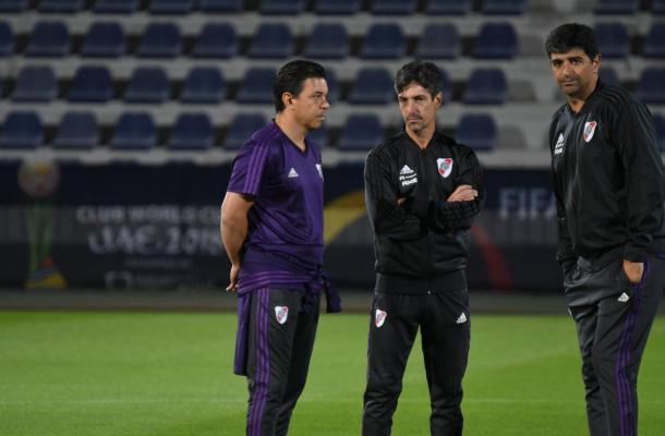 El cuerpo técnico afrontará su segundo Mundial de Clubes. Foto: River Oficial.