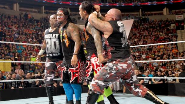 The moment the Dudleys turned heel. Photo- DailyWrestlingNews.com