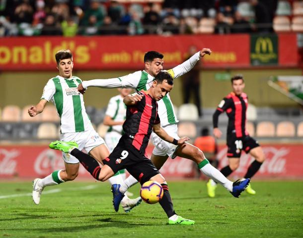 Linares en la acción del 1-1 | Fuente: CF Reus