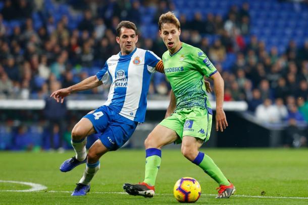 Víctor Sánchez y Sergio Canales en el encuentro | Foto: RCD Espanyol