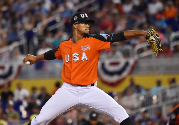 Associated Press-Duplantier pitching at the Futures Game