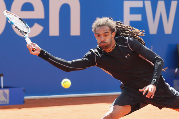 Dustin Brown in BMW Open action. Photo: Alexandra Beier/Getty Images