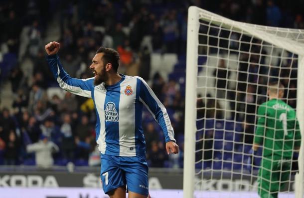 Borja Iglesias celebrando su gol | Foto: RCD Espanyol