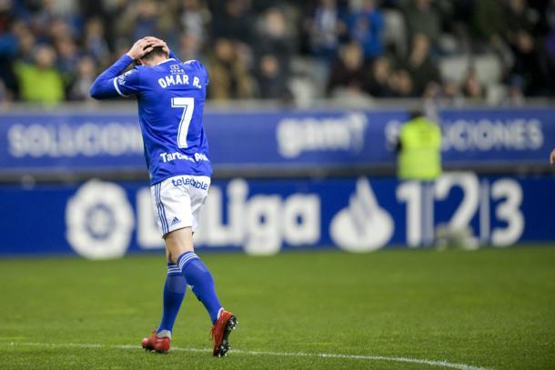 Omar Ramos estará fuera más de un mes   Imagen: Real Oviedo