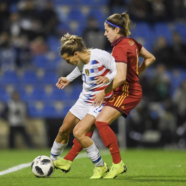 Spain dominated proceedings in the first half | Source: ussoccer.com