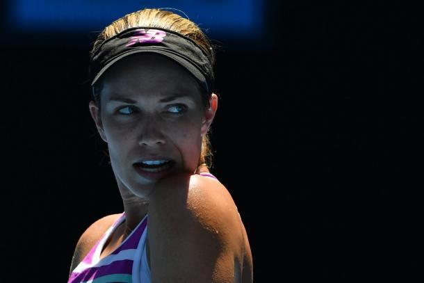 Danielle Collins despe-se do major com a cabeça erguida: despachou tenistas de topo e fez a melhor campanha de sua carreira (Foto: Divulgação/ Australian Open)
