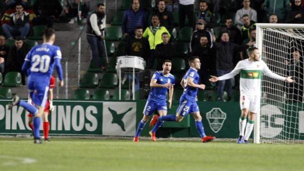 Joselu anota su quinto gol |Imagen: Real Oviedo