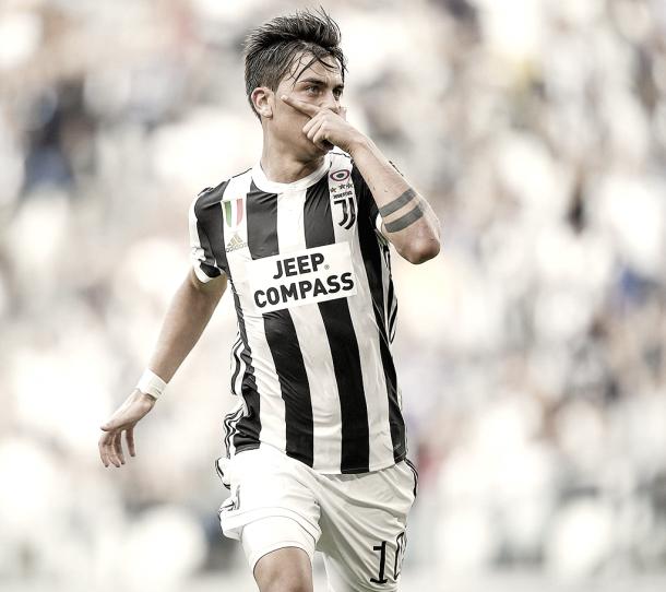 Dybala con su característica celebración | Juventus.com