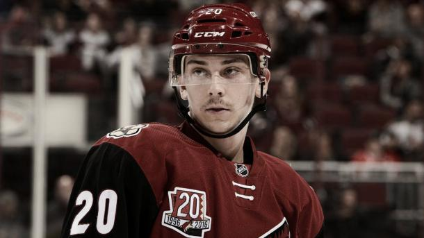 Dylan Strome's up and down NHL career seems to be down again. | Photo: NHL.com