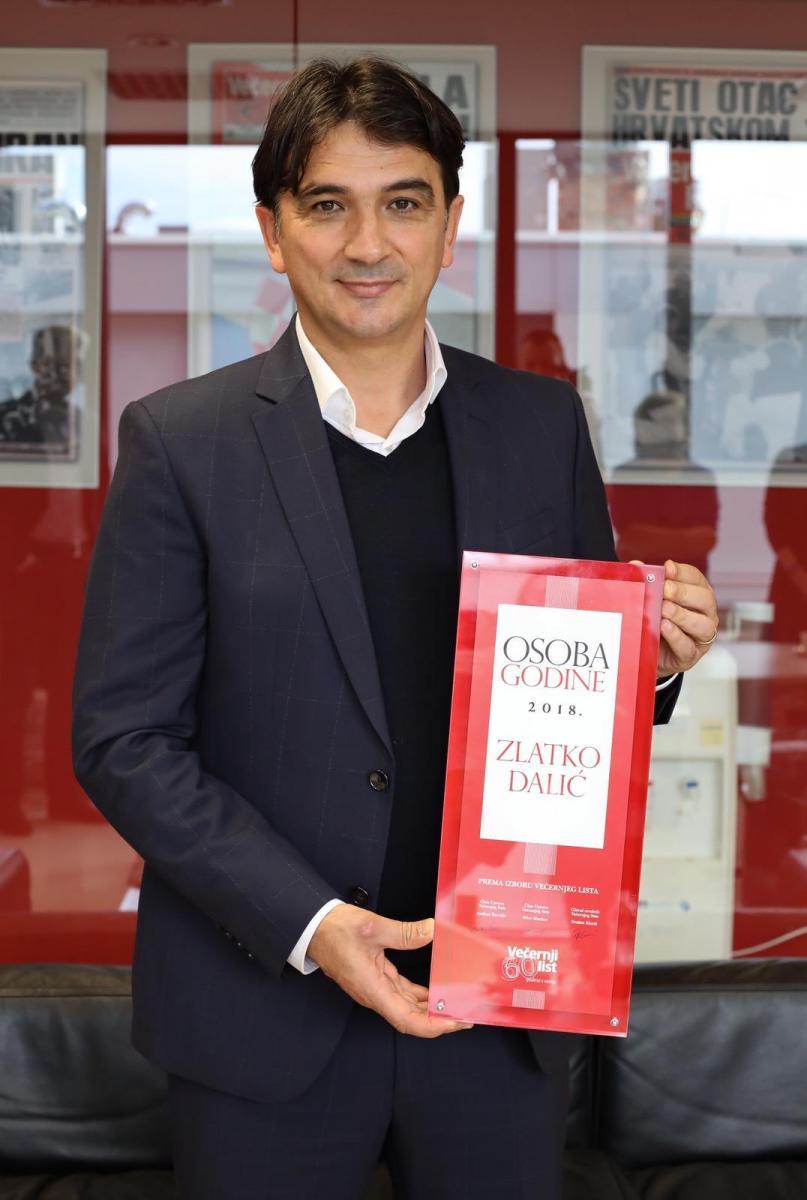 ZlatkoDalić recibiendo un premio / Foto: Croacia