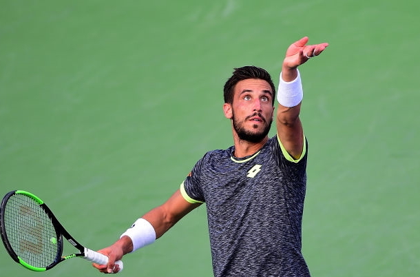 Photo: Jared C. Tilton/Getty Images- Damir Dzumhur serves