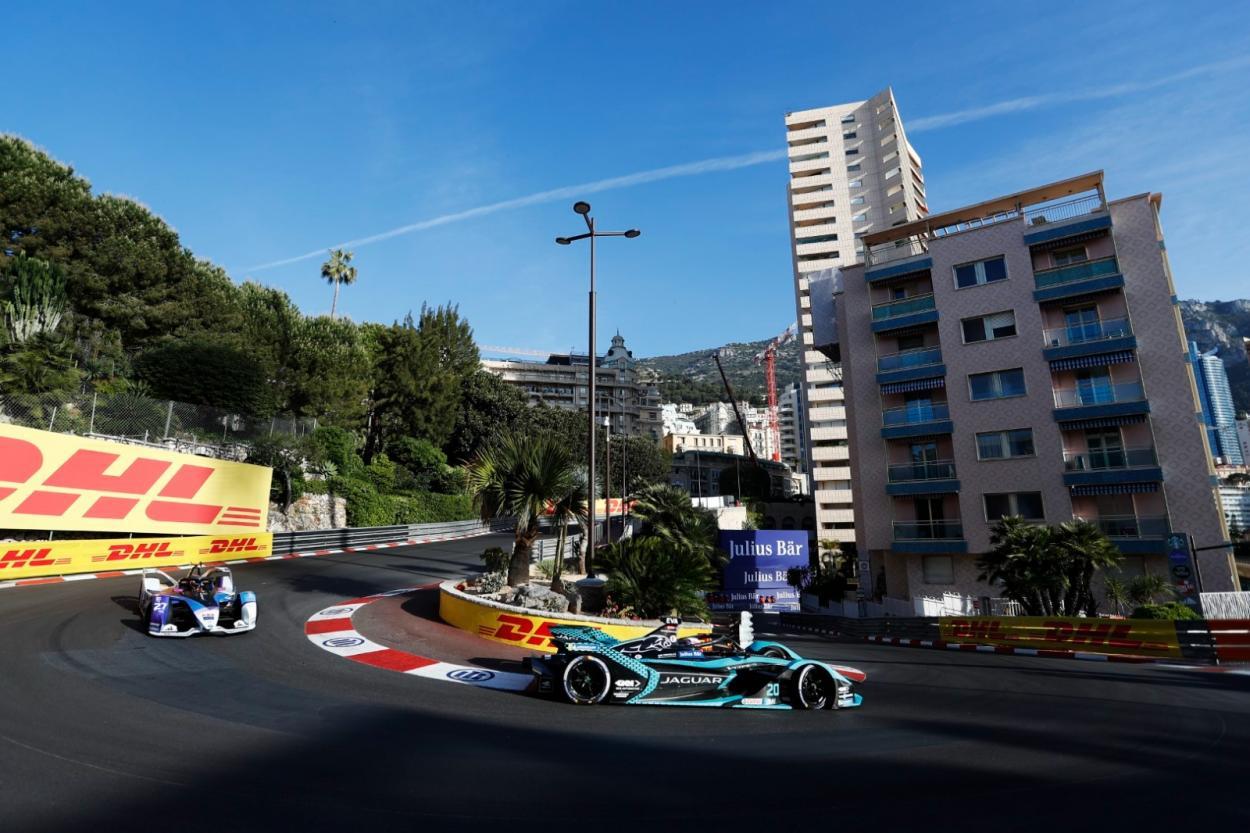 Mitch Evans durante la celebración del E Prix de Mónaco 2021   Fotografía: ABB Fórmula E