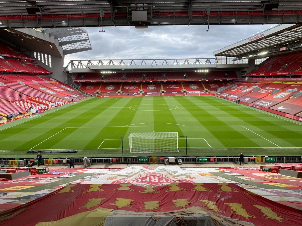 Anfield antes del encuentro / Foto: Liverpool FC