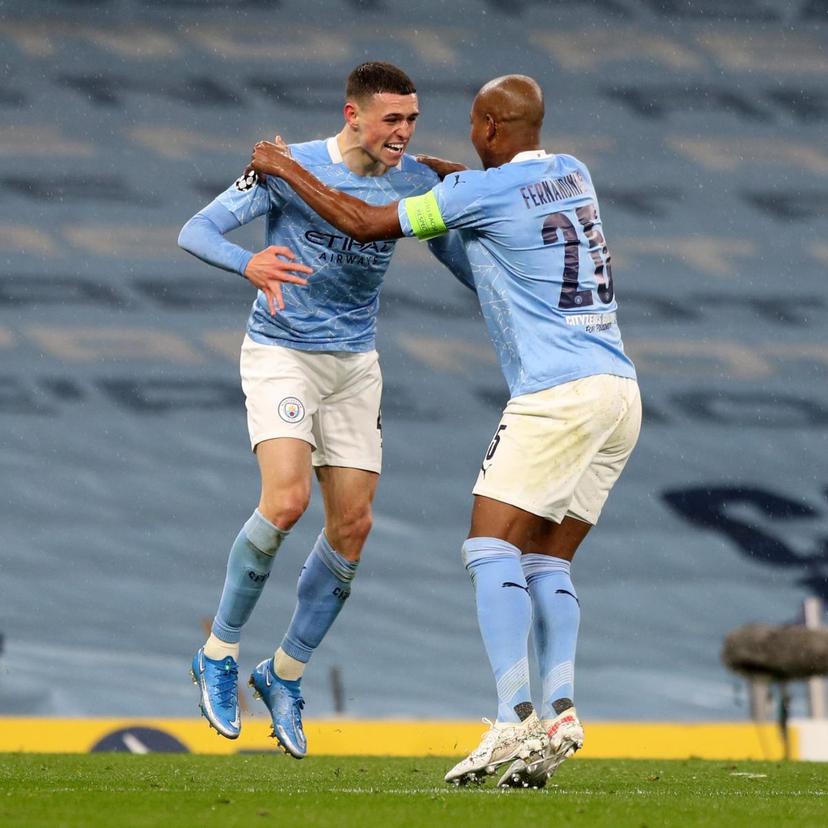 Phil Foden y Fernandinho celebrando | Foto: UEFA
