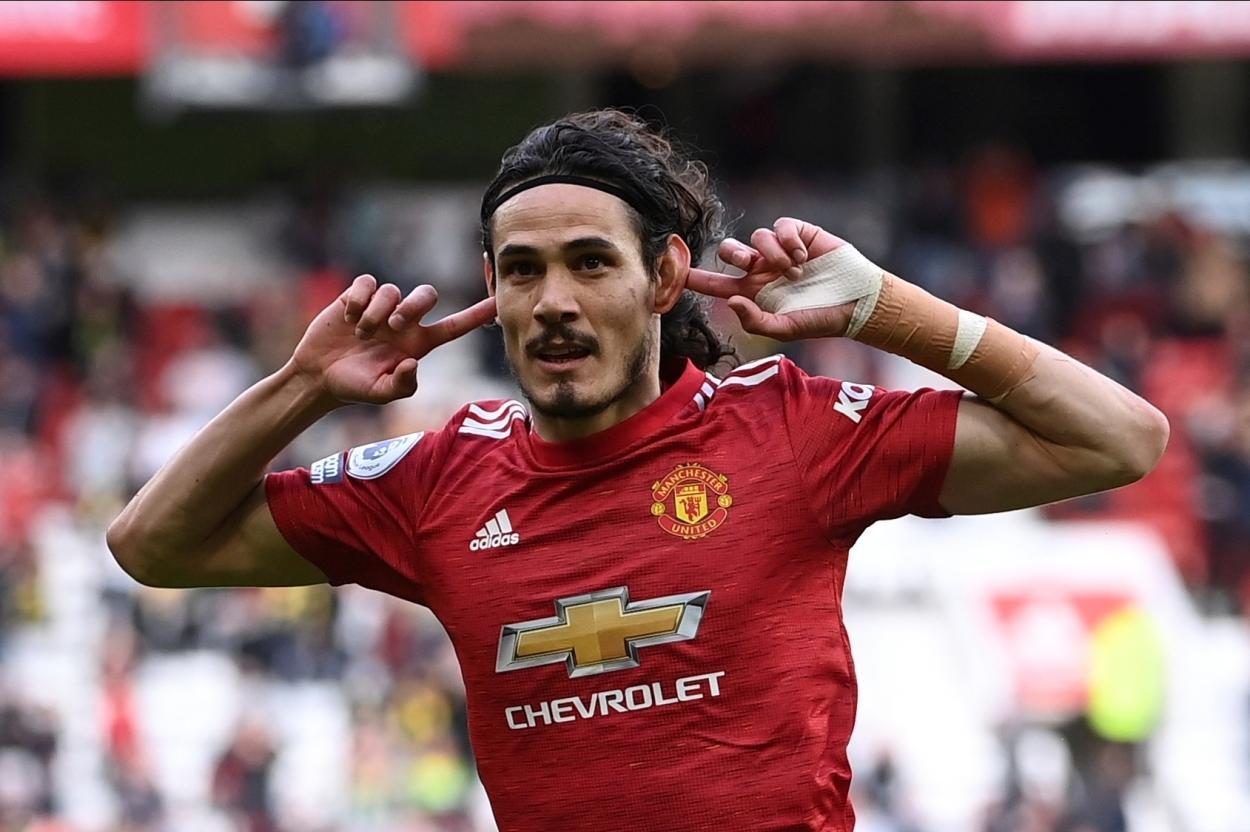 Celebración de Cavani / Foto: Manchester United