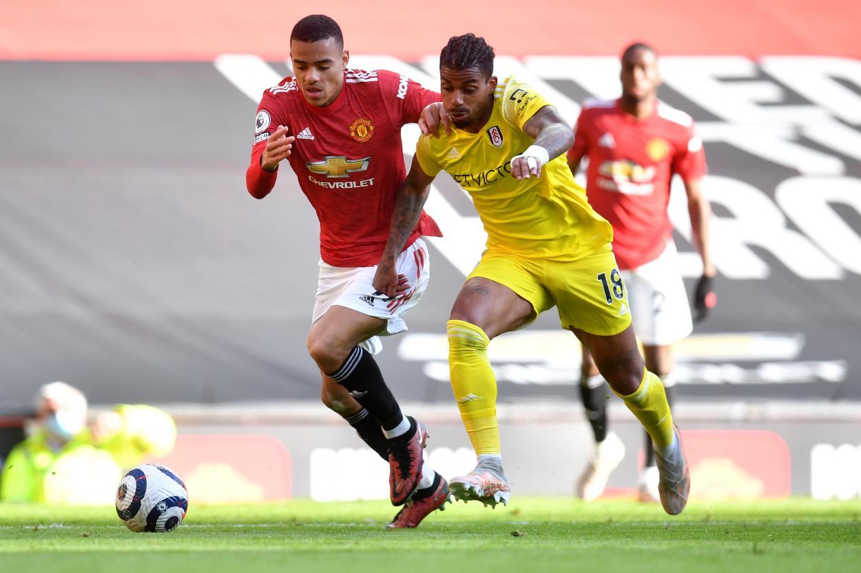 Greenwood en carrera contra Lemina / Foto: Manchester United