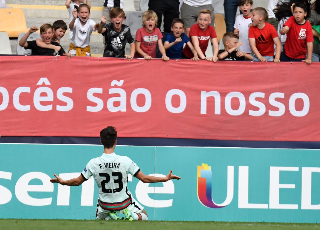 Vieira celebrando el gol / FOTO: UEFA