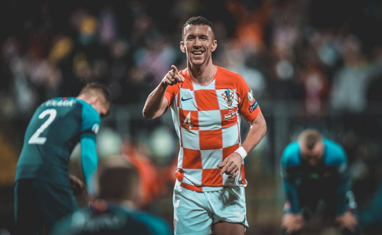 Ivan Perišić en un encuentro con la selección de Croacia / Foto: Croacia