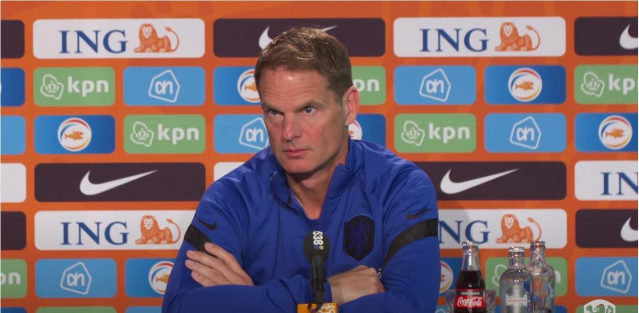 Frank de Boer en una rueda de prensa / Foto: Países Bajos