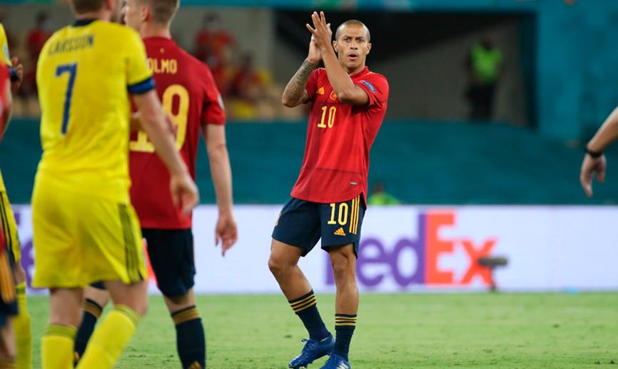Thiago pide sitio en el once / FOTO: Selección Española