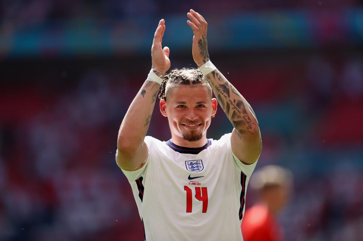 Phillips tras acabar el partido / Foto: Selección Inglesa de Fútbol