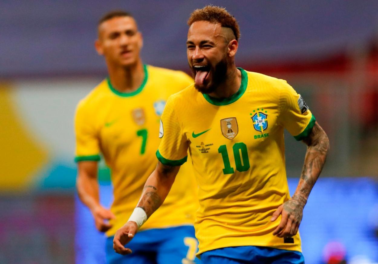 Neymar celebrando el 2-0 / FOTO: CBF Futebol