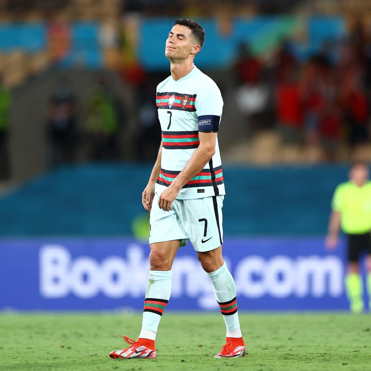 Cristiano Ronaldo desesperado tras ser eliminado de la Eurocopa 2020 / Foto: UEFA