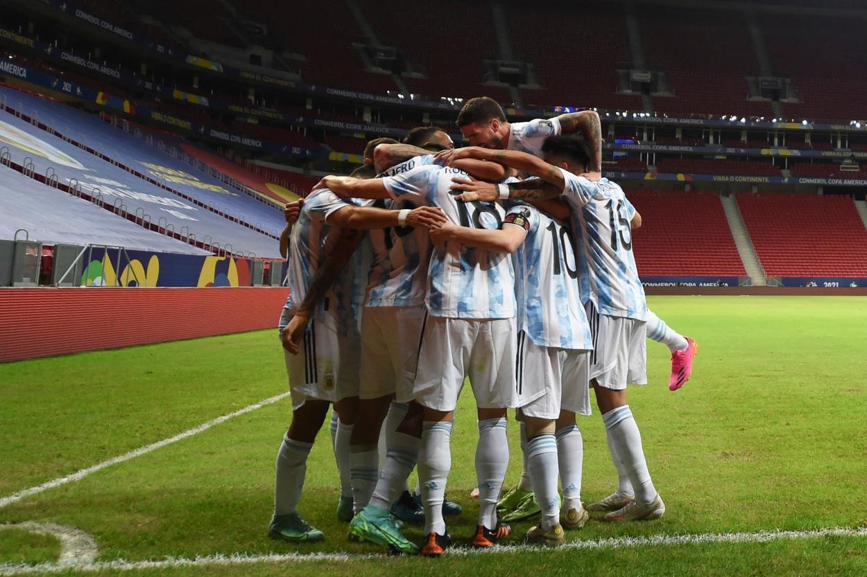 Argentina celebra el 1-0 / FOTO: Copa América