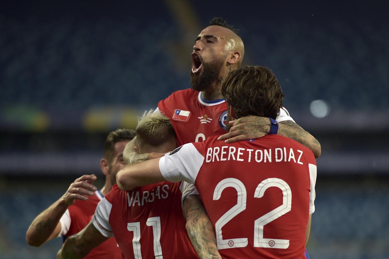 Chile celebrando el 1-0 / FOTO: Copa América