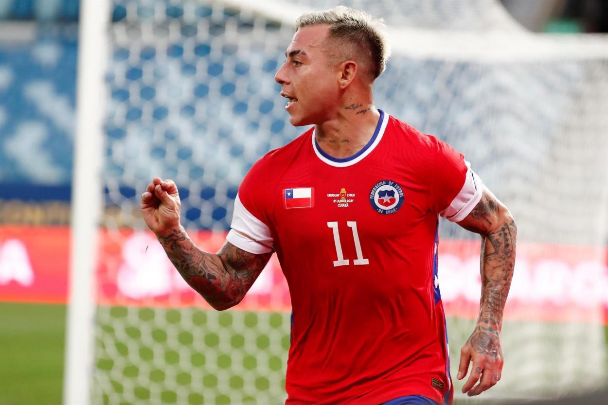Vargas celebra el gol / FOTO: Copa América