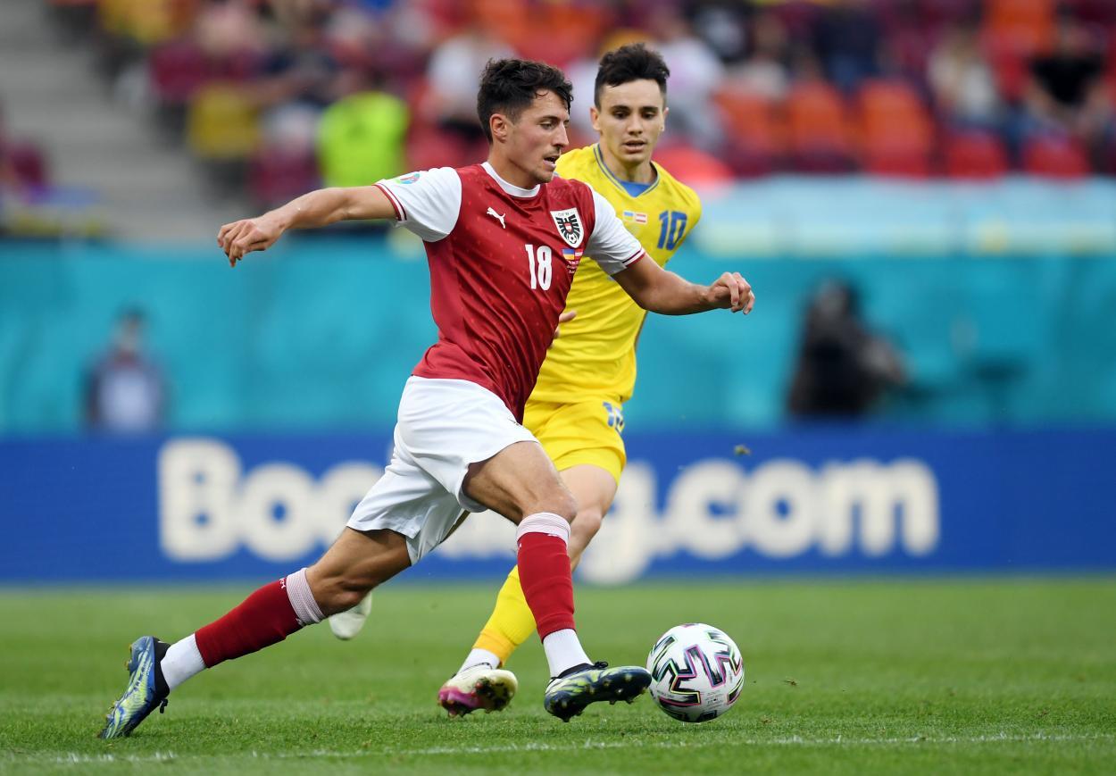 Alessandro Schoepf con el balón en los pies / Foto: UEFA