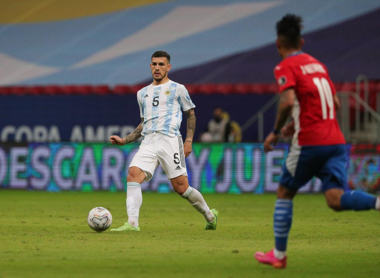 Paredes no fue capaz de mover a Argentina / FOTO: Copa América