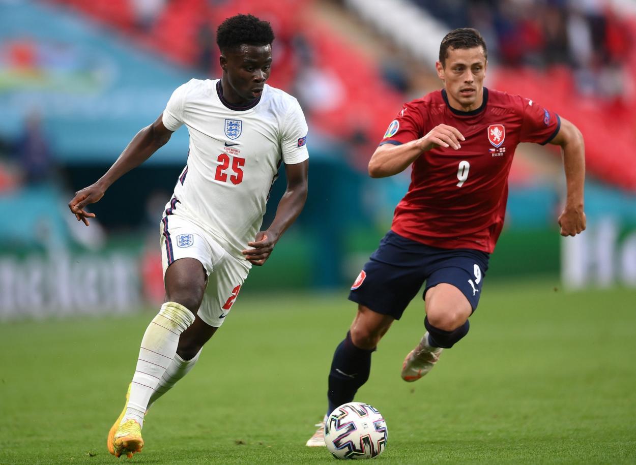 Bukayo Saka, MVP del encuentro / FOTO: England