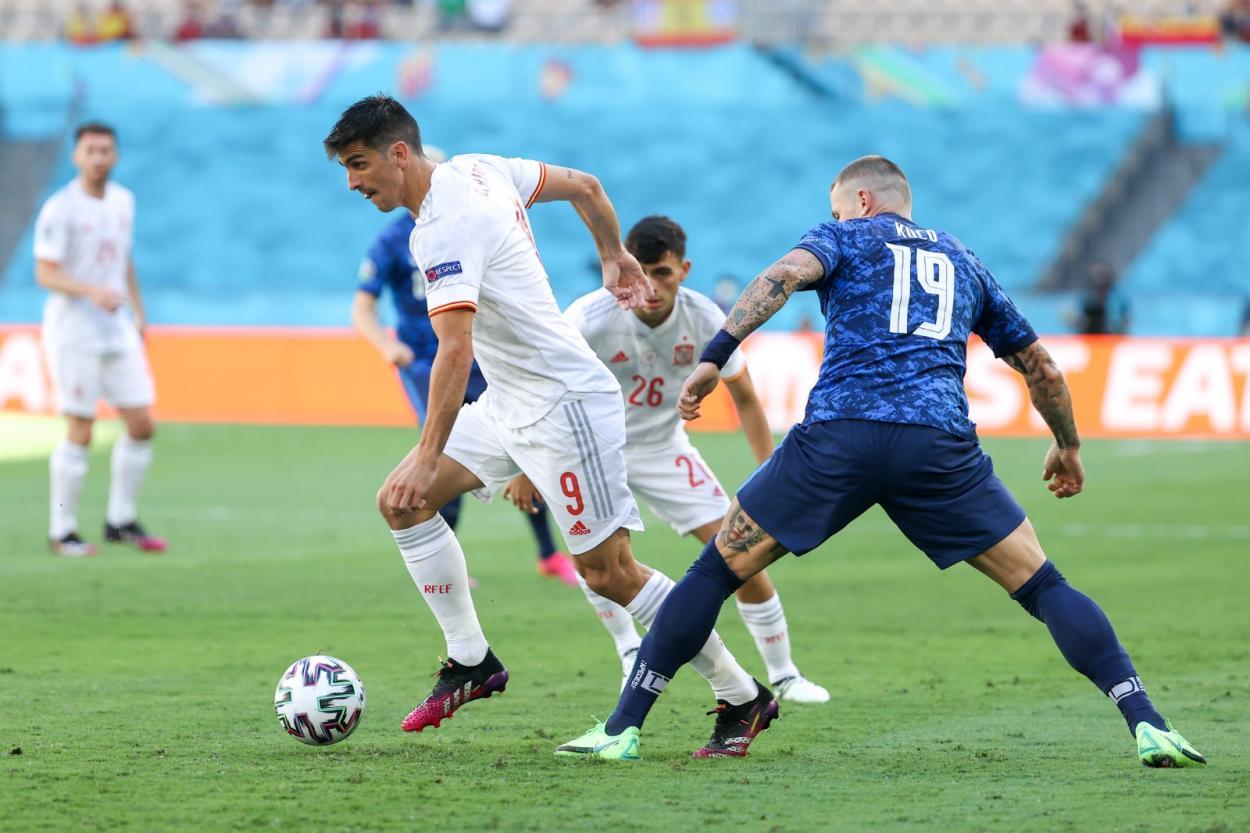 Gerard Moreno volvió a dar soluciones al ataque / FOTO: Selección Española