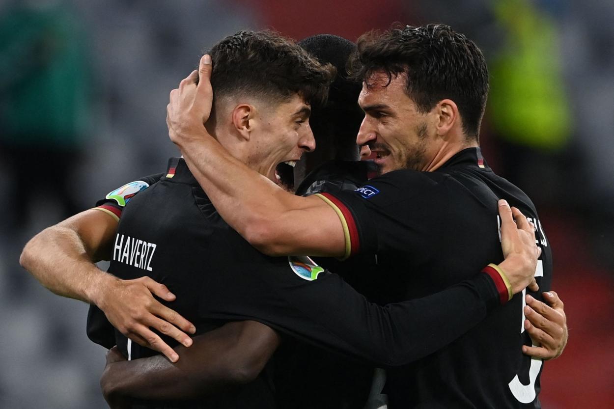 Alemania celebra el 1-1 / FOTO: UEFA
