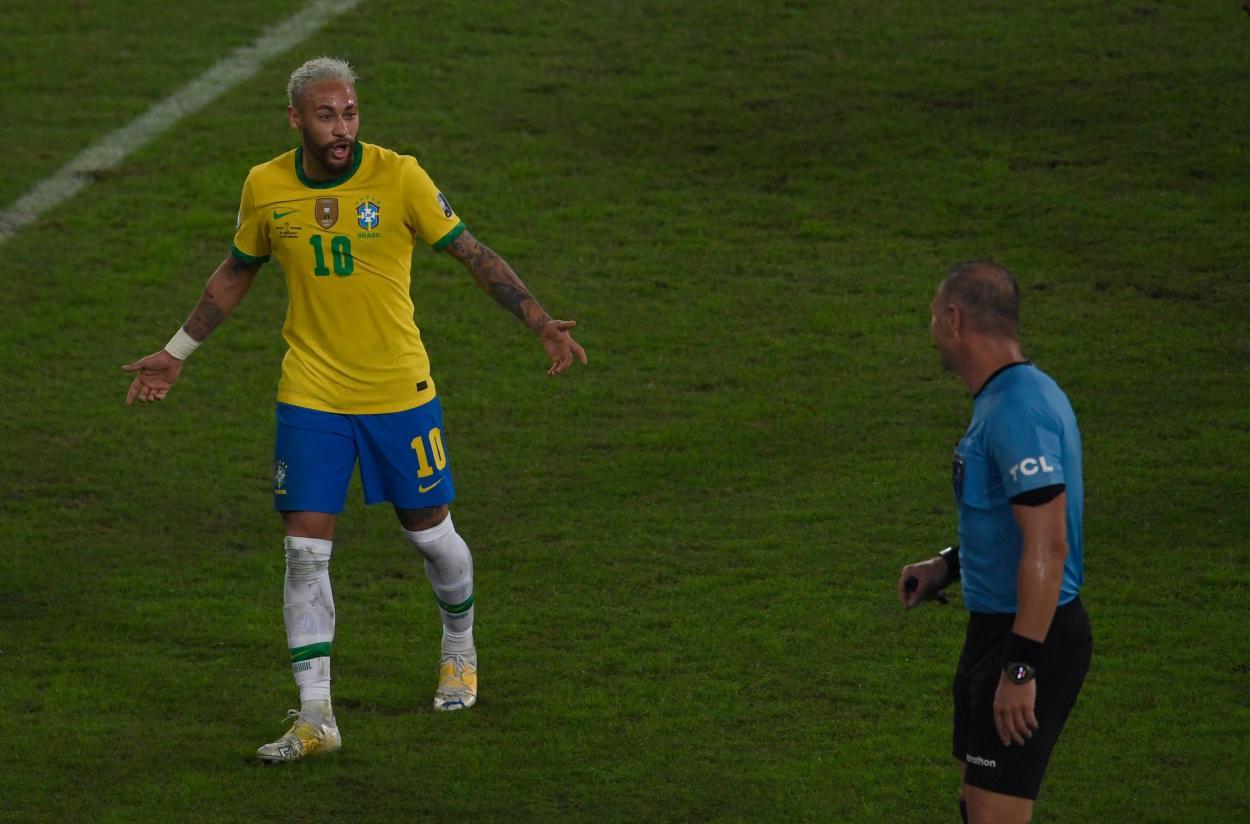 Neymar y Pitana, dos de los protagonistas del encuentro / FOTO: Copa América
